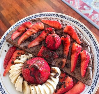Strawberries protein Pancakes