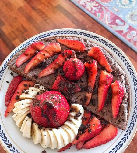 Fit Pancakes with strawberries and protein