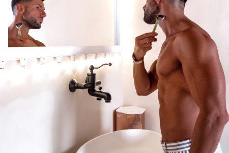 Barba con il rasoio Wilkinson Xtreme3 Eco Green